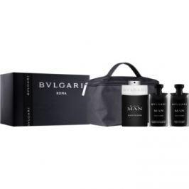 Bvlgari Man Black Cologne dárková sada I.  toaletní voda 100 ml + balzám po holení 75 ml + šampon a sprchový gel 75 ml + kosmetická taška 1 ks