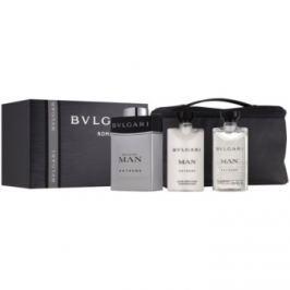 Bvlgari Man Extreme dárková sada VIII. toaletní voda 100 ml + balzám po holení 75 ml + šampon na celé tělo 75 ml + kosmetická taška
