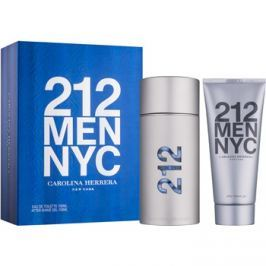Carolina Herrera 212 NYC Men dárková sada VII.  toaletní voda 100 ml + gel po holení 100 ml