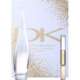 DKNY Liquid Cashmere White dárková sada II.  parfémovaná voda 100 ml + roll-on 10 ml