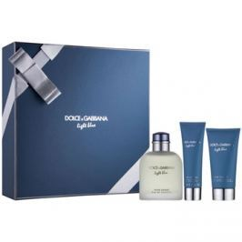 Dolce & Gabbana Light Blue Pour Homme dárková sada I. toaletní voda 125 ml + sprchový gel 50 ml + balzám po holení 75 ml