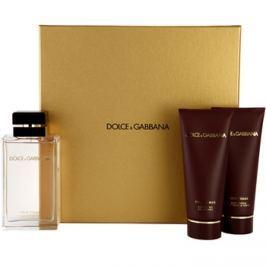 Dolce & Gabbana Pour Femme Travel Edition dárková sada III. parfémovaná voda 100 ml + tělové mléko 100 ml + sprchový gel 100 ml