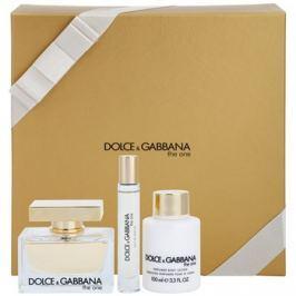 Dolce & Gabbana The One dárková sada XI.  parfémovaná voda 75 ml + parfémovaná voda 7,4 ml + tělové mléko 100 ml