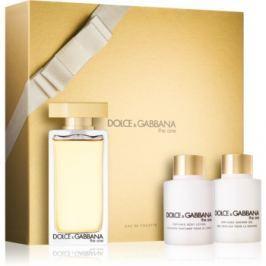 Dolce & Gabbana The One Eau de Toilette dárková sada  toaletní voda 100 ml + tělové mléko 100 ml + sprchový gel 100 ml