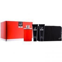 Dunhill Desire Red dárková sada VII.  toaletní voda 100 ml + sprchový gel 90 ml + balzám po holení 90 ml + kosmetická taška