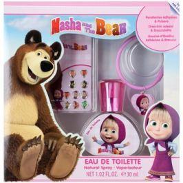 EP Line Máša a Medvěd dárková sada I.  toaletní voda 30 ml + nalepovací naušnice + náramek