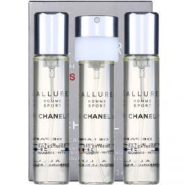 Chanel Allure Homme Sport Eau Extreme parfémovaná voda pro muže 3 x 20 ml náplň