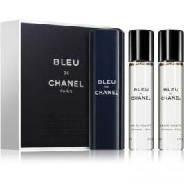 Chanel Bleu de Chanel toaletní voda pro muže 3x20 ml (1x plnitelná + 2x náplň)