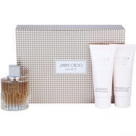 Jimmy Choo Illicit dárková sada I. parfémovaná voda 100 ml + tělové mléko 100 ml + sprchový gel 100 ml