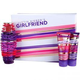 Justin Bieber Girlfriend dárková sada I. parfémovaná voda 100 ml + tělové mléko 100 ml + sprchový gel 100 ml