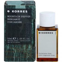 Korres Mountain Pepper (Bergamot/Coriander) toaletní voda pro muže 50 ml toaletní voda