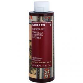 Korres Vanilla (Freesia/Lychee) sprchový gel pro ženy 250 ml sprchový gel