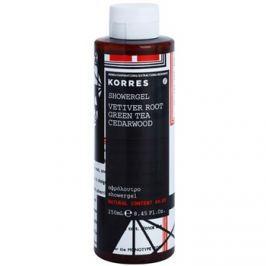 Korres Vetiver Root (Green Tea/Cedarwood) sprchový gel pro muže 250 ml