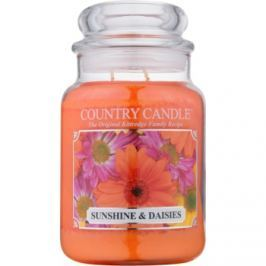 Kringle Candle Country Candle Sunshine & Daisies vonná svíčka 652 g