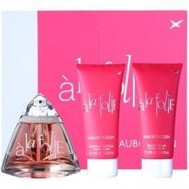 Mauboussin A la Folie dárková sada I. parfémovaná voda 100 ml + sprchový gel 100 ml + tělové mléko 100 ml dárková sada