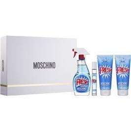 Moschino Fresh Couture dárková sada V.  toaletní voda 100 ml + toaletní voda roll-on 10 ml + sprchový a koupelový gel 100 ml + tělové mléko 100 ml
