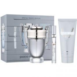Paco Rabanne Invictus dárková sada XII.  toaletní voda 100 ml + toaletní voda 10 ml + šampon na celé tělo 100 ml