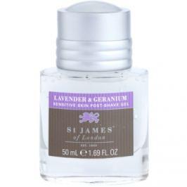 St. James Of London Lavender & Geranium gel po holení pro muže 50 ml bez krabičky cestovní balení
