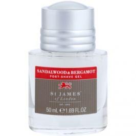 St. James Of London Sandalwood & Bergamot gel po holení pro muže 50 ml bez krabičky cestovní balení