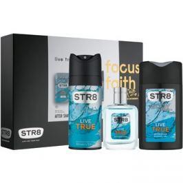STR8 Live True dárková sada VI.  voda po holení 50 ml + deodorant ve spreji 150 ml + sprchový gel 250 ml