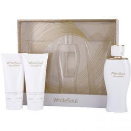 Ted Lapidus White Soul dárková sada I. parfémovaná voda 100 ml + tělový krém 100 ml + sprchový gel 100 ml