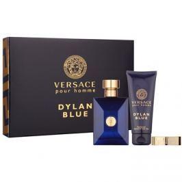 Versace Dylan Blue Pour Homme dárková sada III.  toaletní voda 100 ml + sprchový gel 100 ml + spona na peníze