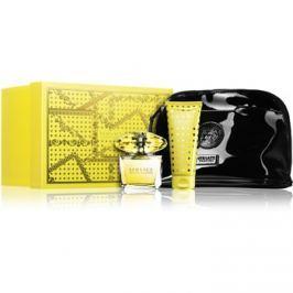 Versace Yellow Diamond dárková sada X.  toaletní voda 90 ml + tělové mléko 100 ml + taštička