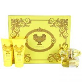Versace Yellow Diamond dárková sada IV. toaletní voda 50 ml + tělové mléko 50 ml + sprchový gel 50 ml