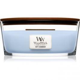 Woodwick Soft Chambray vonná svíčka 453,6 g Hearthwick
