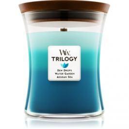 Woodwick Trilogy Gentle Rain vonná svíčka 275 g střední