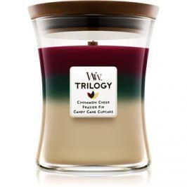 Woodwick Trilogy Christmas Classic vonná svíčka 275 g střední
