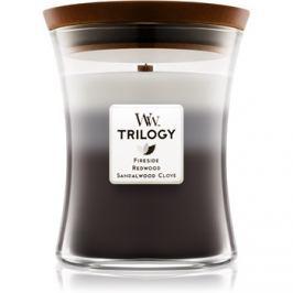 Woodwick Trilogy Warm Woods vonná svíčka 275 g střední