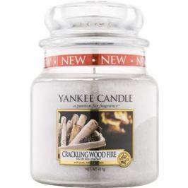 Yankee Candle Crackling Wood Fire vonná svíčka 410 g Classic střední
