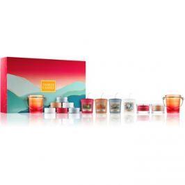 Yankee Candle Gift Set dárková sada II.  svícen na votivní svíčku 2x + svícen na čajovou svíčku 2x + votivní svíčka 4 ks + čajová svíčka 8 ks