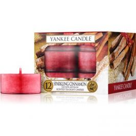 Yankee Candle Sparkling Cinnamon čajová svíčka 12 x 9,8 g