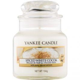 Yankee Candle Spiced White Cocoa vonná svíčka 104 g Classic malá