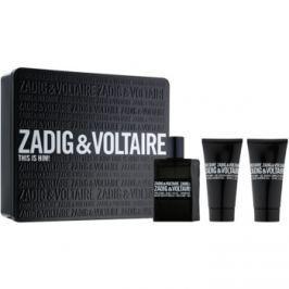 Zadig & Voltaire This Is Him! dárková sada I.  toaletní voda 50 ml + sprchový gel 2 x 50 ml