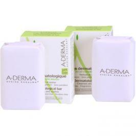 A-Derma Original Care dermatologická mycí kostka pro citlivou a podrážděnou pokožku DUO BALENÍ  2 x100 g