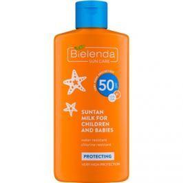 Bielenda Sun Care ochranné opalovací mléko pro děti od 6 měsíců SPF50  150 ml