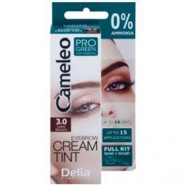 Delia Cosmetics Cameleo Pro Green barva na obočí bez amoniaku odstín 3.0 Dark Brown 15 ml