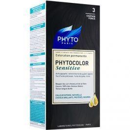Phyto Color Sensitive permanentní barva na vlasy odstín 3 Dark Chestnut