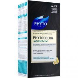 Phyto Color Sensitive permanentní barva na vlasy odstín 4.77 Intense Chestnut Brown