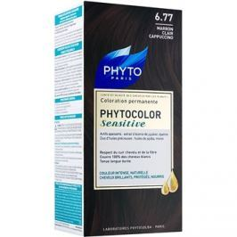 Phyto Color Sensitive permanentní barva na vlasy odstín 6.77 Light Brown Cappuccino