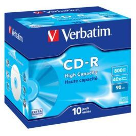 Verbatim CD-R 800MB/90min, 40x, jewel box, 10ks (43428)