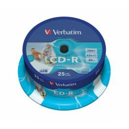 Verbatim CD-R 700MB/80min, 52x, printable, 25cake (43439)