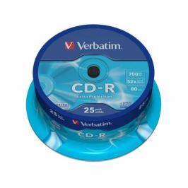 Verbatim CD-R 700MB/80min, 52x, 25cake (43432)