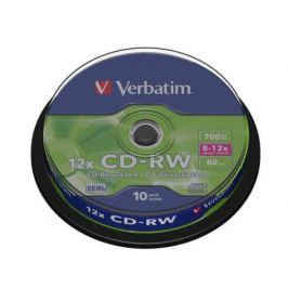 Verbatim CD-RW 700MB/80 min. 8-12x, 10-cake (43480)