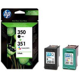 HP No. 350 + 351, 200 stran - originální (SD412EE) Inkousty a refillkity