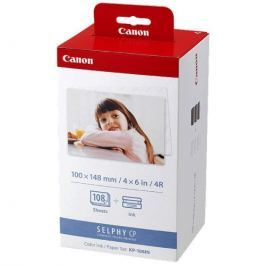 Canon KP108IN pro termosublimační tiskárny,10x15, 108 listů (3115B001) Papíry do tiskárny