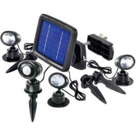 CNR Esotec Trio solární bodové, s PIR čidlem LED reflektory